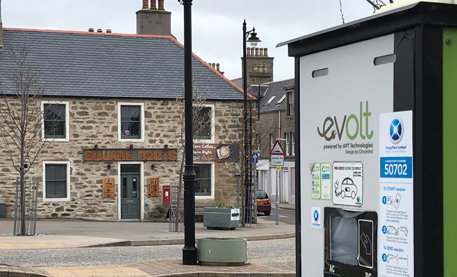 Electric Car charging point in Keith